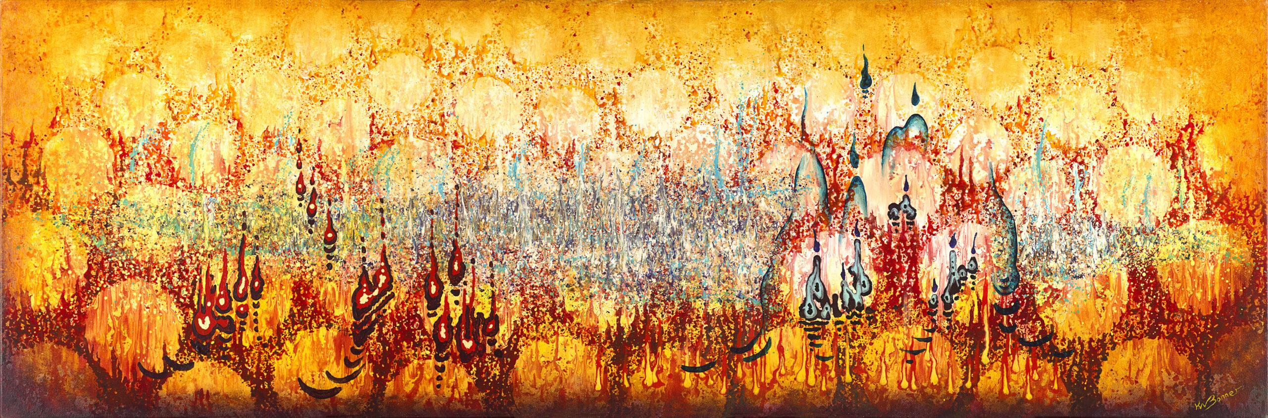 Elemental Meeting - Rebirth | Abstract | Ken Bonner Original Oil Paintings | Santa Fe New Mexico
