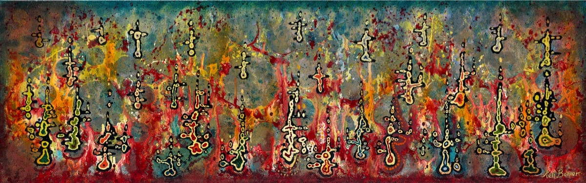 Global Network   Ken Bonner Original Oil Paintings   Santa Fe New Mexico