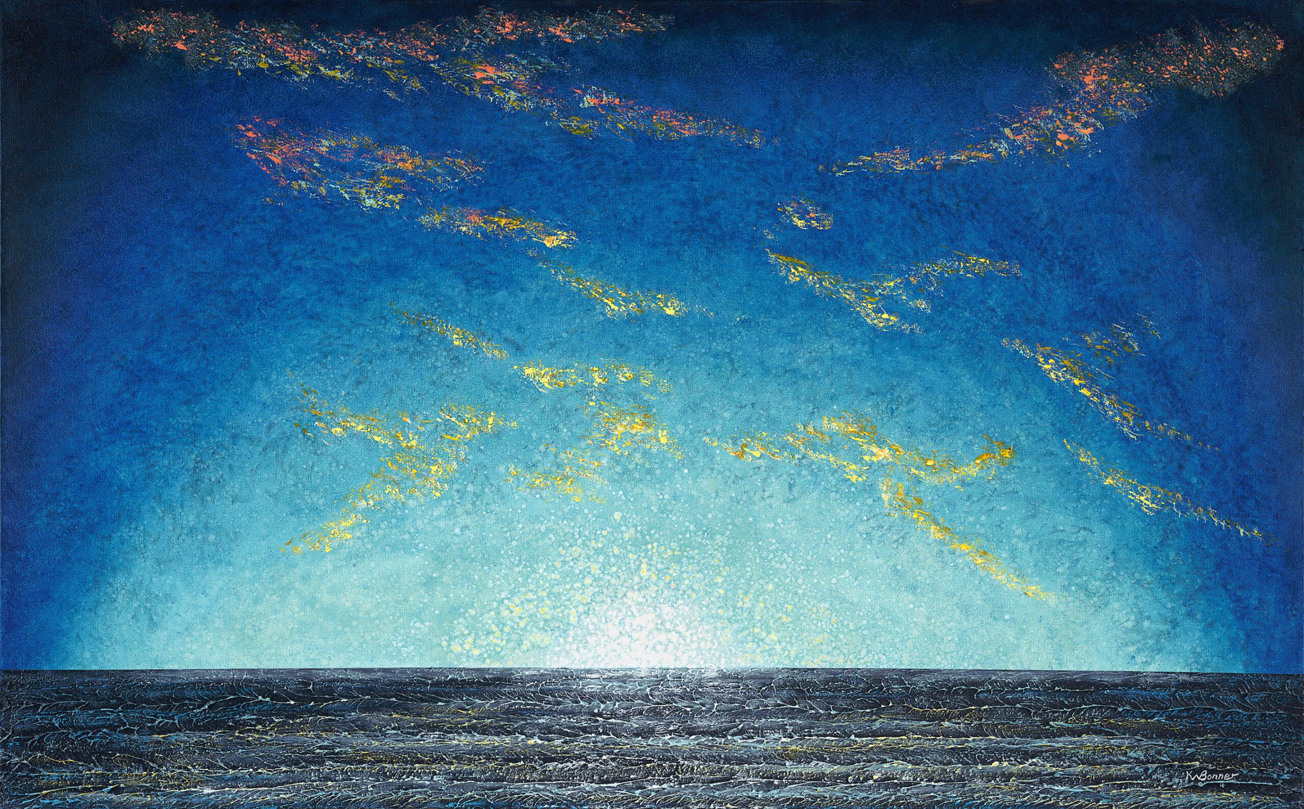 Here Comes the Sun | Seascapes | Ken Bonner Original Oil Paintings | Santa Fe New Mexico