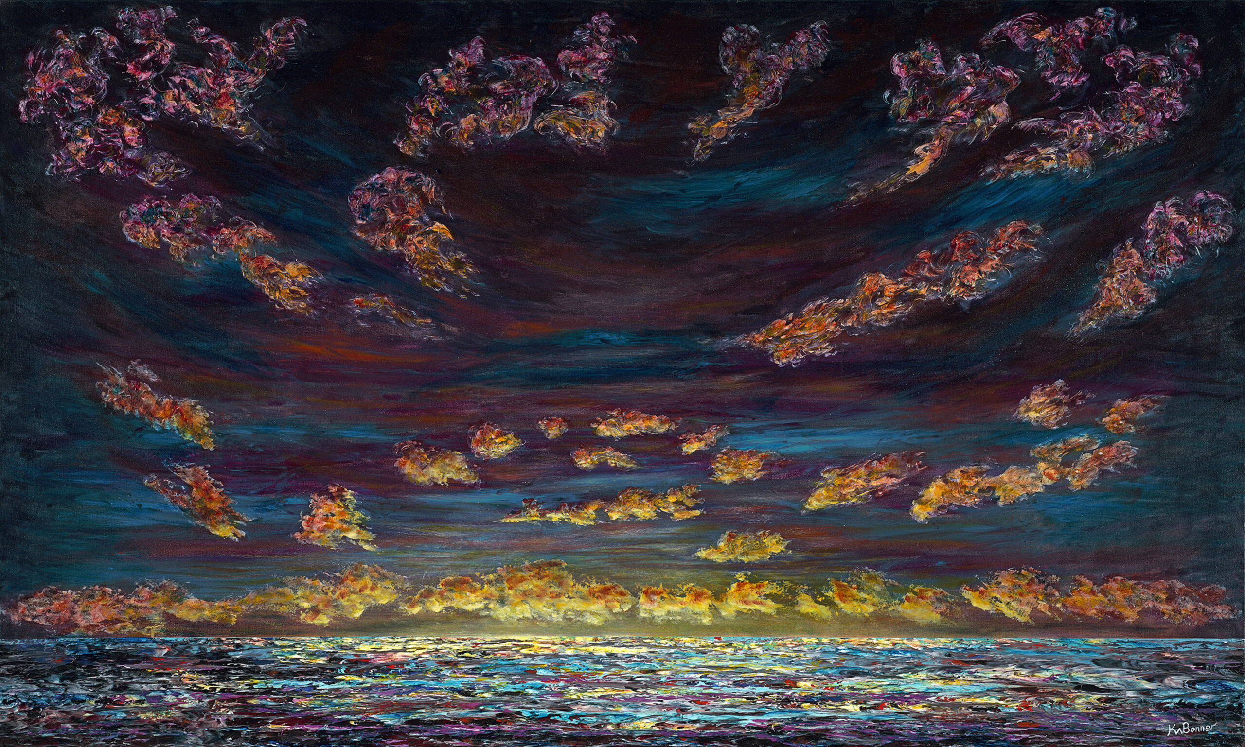 All the Colors of the Morning | Seascapes | Ken Bonner Original Oil Paintings | Santa Fe New Mexico