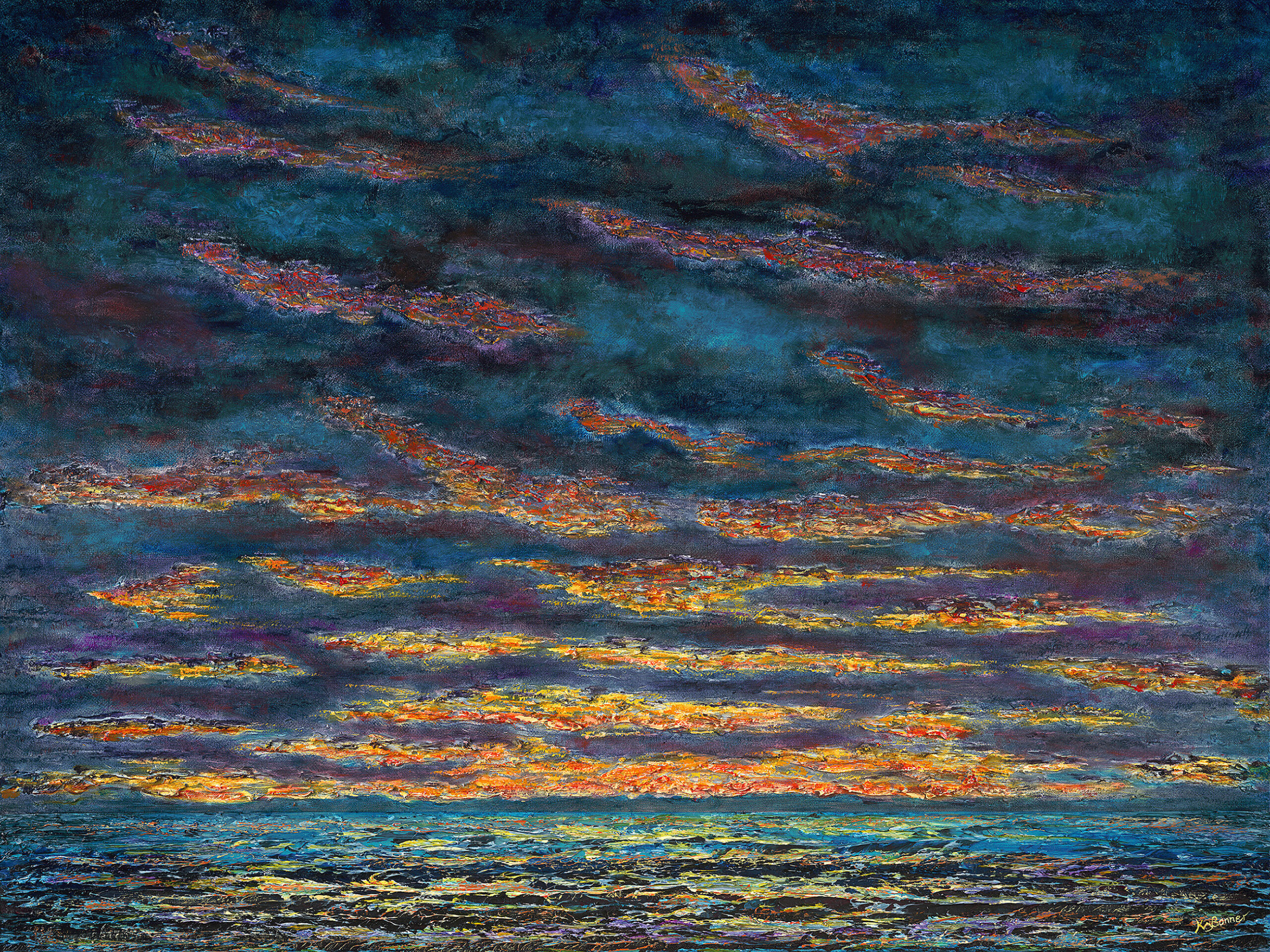 Morning has Broken | Seascapes | Ken Bonner Original Oil Paintings | Santa Fe New Mexico