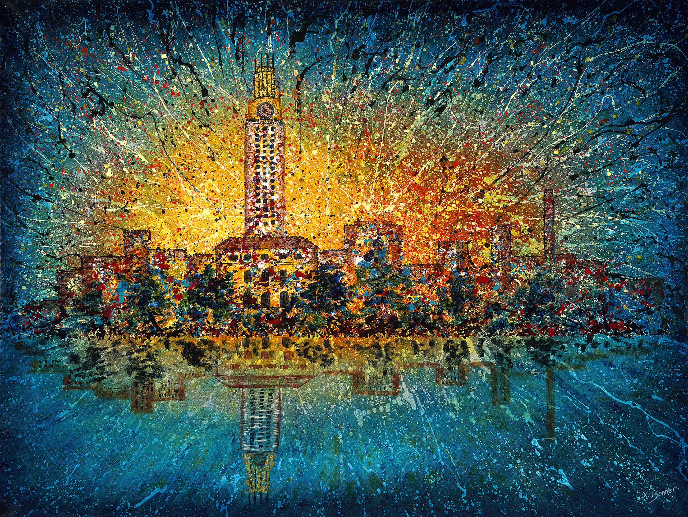 Those Were the Days | Austin Cityscape | Ken Bonner Original Oil Paintings | Santa Fe New Mexico