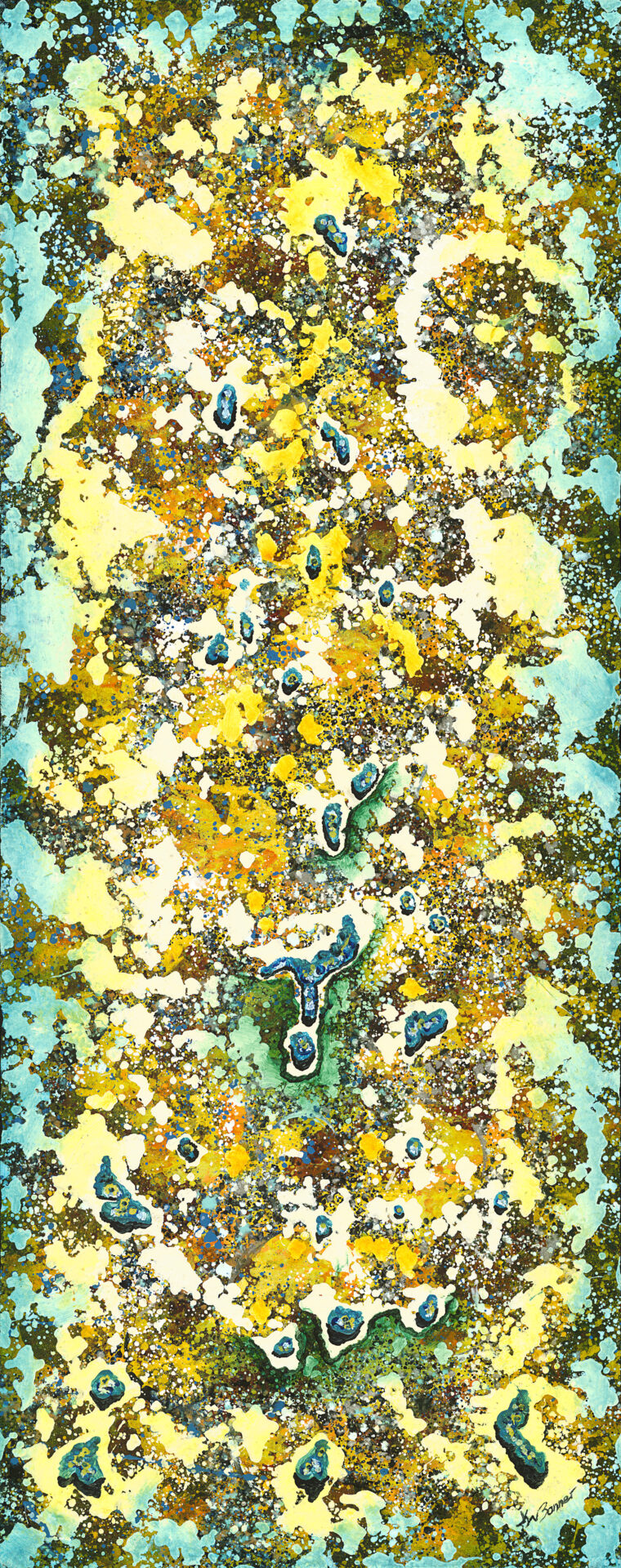 Turquoise trail | Abstract | Ken Bonner original oil painting | Santa Fe New Mexico