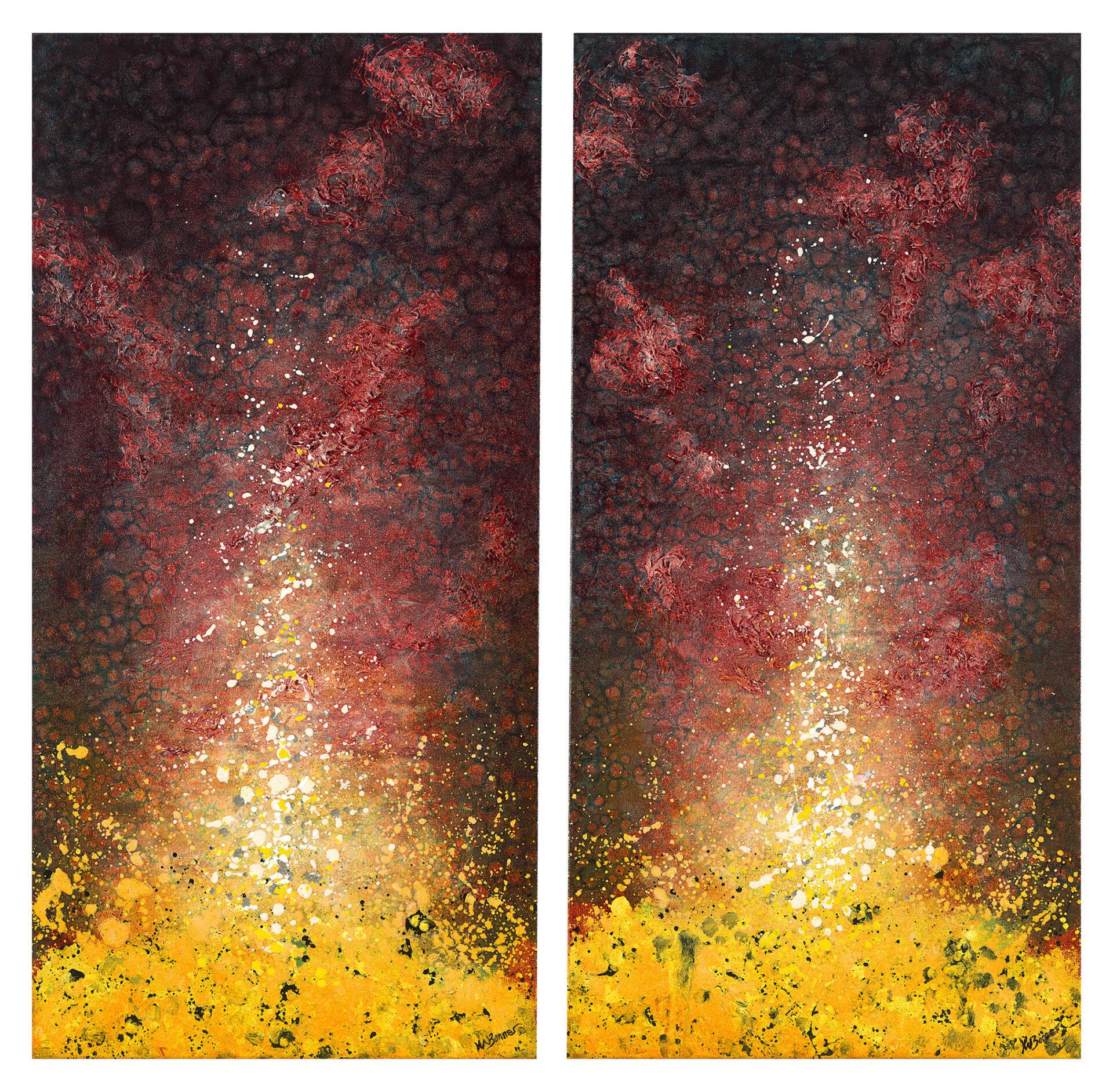 Awakening Passion | Abstract | Ken Bonner original oil painting | Santa Fe New Mexico