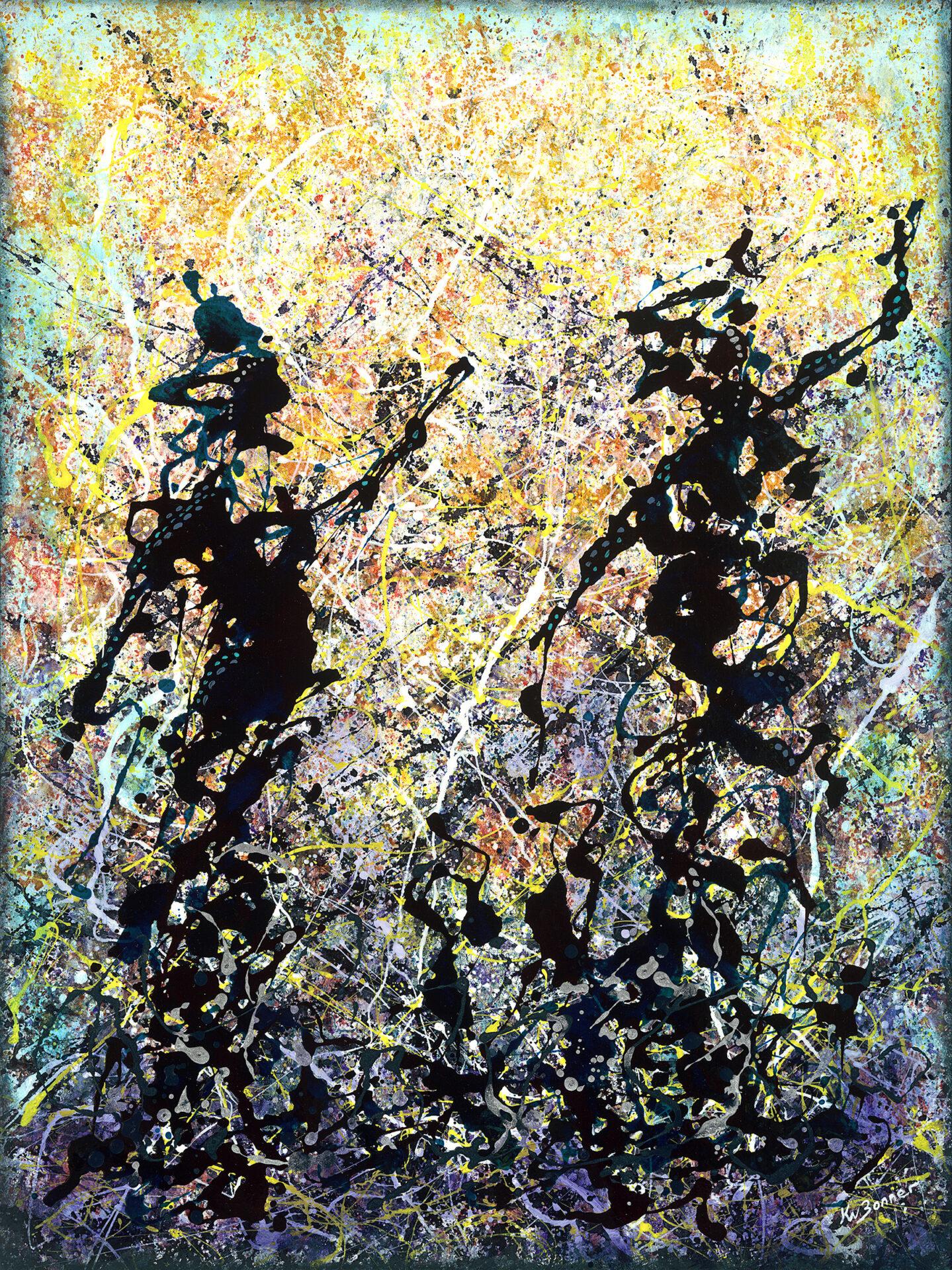 Do you wanna dance | Indigenous dance | Ken Bonner original oil | Santa Fe New Mexico   us