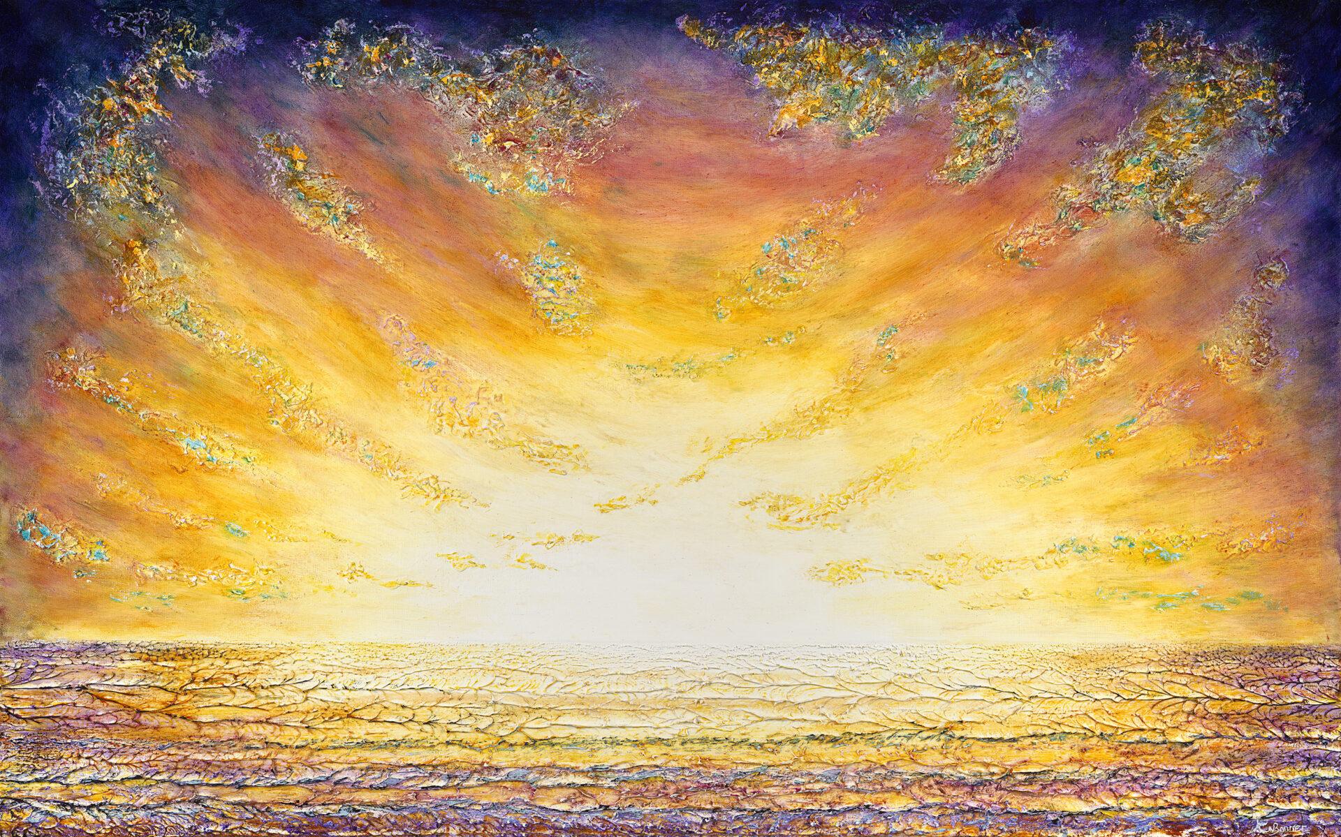 It's a kind of magic Seascape Ken Bonner original oil painting Santa Fe New Mexico