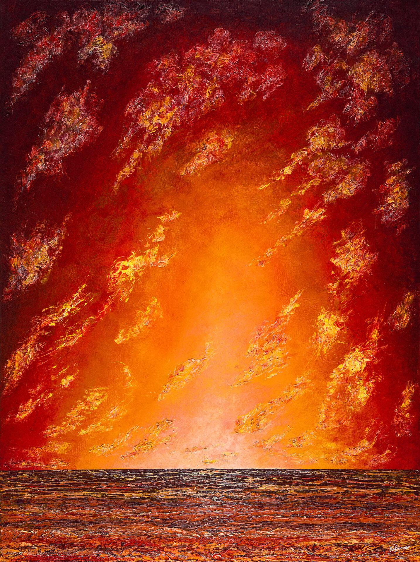 Touch me in the morning|seascape|Ken Bonner original oil painting|Santa Fe NM